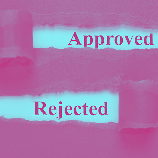 Sign saying 'Approved' and 'Rejected'