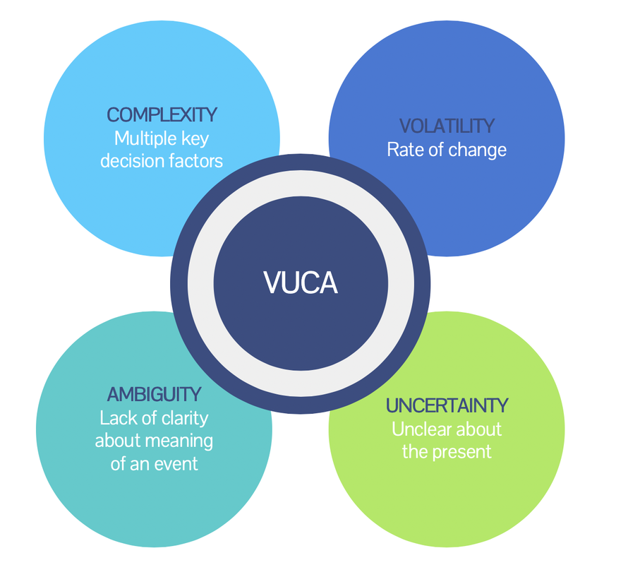 Infographic of VUCA definition